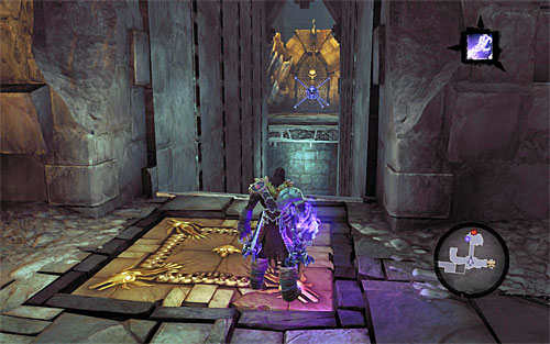 Ignore the chest to the right, because, as of now, you cannot reach it - Find the Eternal Throne (1) - The Lord of Bones - Darksiders II - Game Guide and Walkthrough