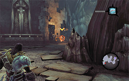 Position yourself like in the screenshot above, which is at the first drawbridge - Find the Eternal Throne (1) - The Lord of Bones - Darksiders II - Game Guide and Walkthrough