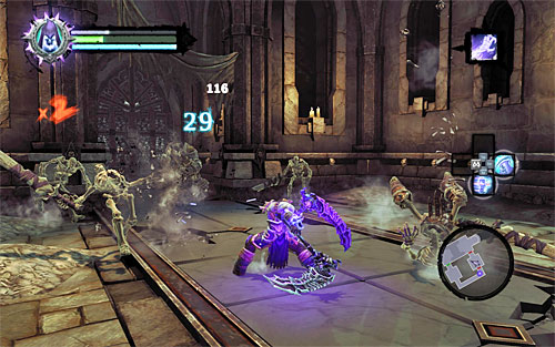 Afterwards, examine the area thoroughly to pick up treasures and then enter the adjoining chamber - Summon the Arena Champion (2) - The Toll of Kings - Darksiders II - Game Guide and Walkthrough