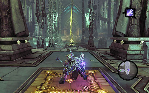 Again, pick up treasures and move to the adjoining chamber - Summon the Arena Champion (2) - The Toll of Kings - Darksiders II - Game Guide and Walkthrough