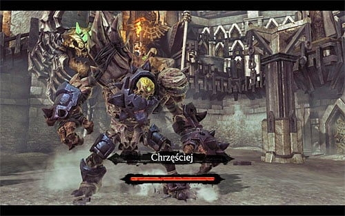 Depending on how much damage you've managed to deal, the boss will go back to moving underground (you'll need to repeat all of the steps described above) or transform into a larger creature (the above screen), which will commence the SECOND STAGE of the battle - Boss 8 - Gnashor - The Toll of Kings - Darksiders II - Game Guide and Walkthrough