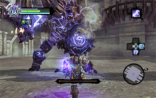 The last FOURTH STAGE of the battle involves another variety of whip attacks, but you should be quite familiar with them by now - Boss 8 - Gnashor - The Toll of Kings - Darksiders II - Game Guide and Walkthrough