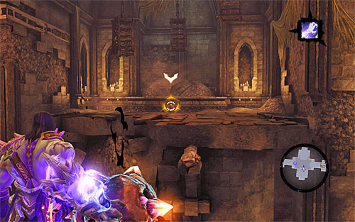 Approach the edge of the shelf and throw the shadowbomb at the switch you've used earlier (the above screen) - Resurrect Phariseer (1) - Phariseer - Darksiders II - Game Guide and Walkthrough