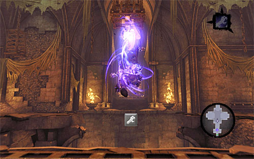 Right after detonating the shadowbomb, select Death Grip and wait until you can grab onto the first interactive handhold (the one that's gradually lowering) - Resurrect Phariseer (1) - Phariseer - Darksiders II - Game Guide and Walkthrough