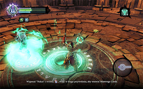 Start off by picking up the loot dropped by the defeated enemies - Finishing the quest - Phariseer - Darksiders II - Game Guide and Walkthrough