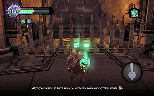 Go towards the grates at the edges of the arena - Finishing the quest - Phariseer - Darksiders II - Game Guide and Walkthrough