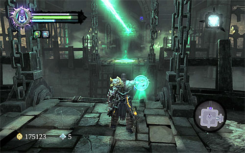 Now, rotate the statue towards the door in the northern part of the chamber - Find the first Soul - Judicator - Darksiders II - Game Guide and Walkthrough