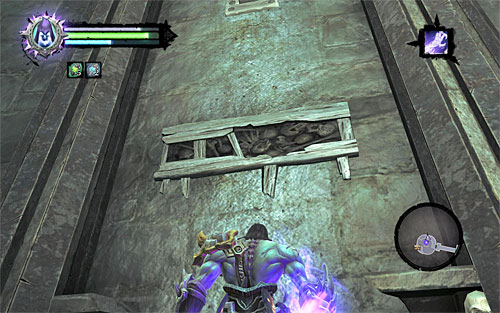 Move up the wall where shown - Find the first Soul - Judicator - Darksiders II - Game Guide and Walkthrough