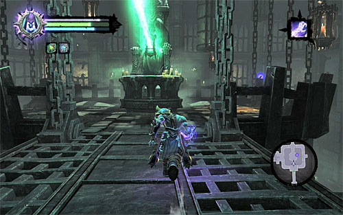 Afterwards, you'll need to return to the central area of the tomb, so jump off the upper platform anywhere you want and head back to the bottom of the tower - Bring the first Soul - Judicator - Darksiders II - Game Guide and Walkthrough