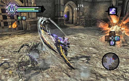 The first major battle will commence as soon as you enter a larger chamber - Find the second Soul (1) - Judicator - Darksiders II - Game Guide and Walkthrough