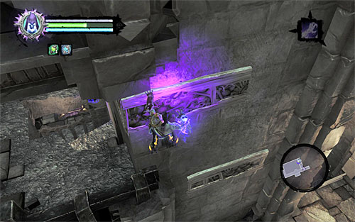 After taking both secrets, go back down and use the interactive handhold again - Find the second Soul (2) - Judicator - Darksiders II - Game Guide and Walkthrough