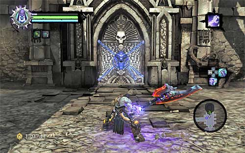 Backtrack to the previous room (the one with the Dead Lord) and jump down to the lower level - Find the second Soul (2) - Judicator - Darksiders II - Game Guide and Walkthrough