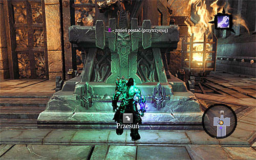 In accordance with the above description, using Soul Split led to summoning two halves of the soul, whereas the physical form of the dead assumes and indestructible, rocky, posture - Go to The City of the Dead - The City of the Dead - Darksiders II - Game Guide and Walkthrough
