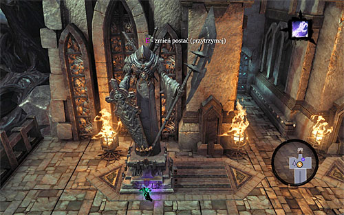 Grab onto the statute and move it to the left as far as you can (the above screenshot) - Go to The City of the Dead - The City of the Dead - Darksiders II - Game Guide and Walkthrough