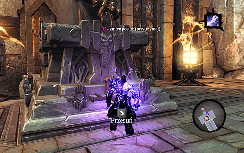 Move the other half to the statue on the right seen in the above screenshot - Go to The City of the Dead - The City of the Dead - Darksiders II - Game Guide and Walkthrough