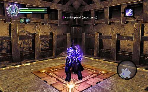 Switch to the other half of the soul (press and hold down E key), and find the area shown in the above screenshot, where you can start climbing - Explore the City of the Dead - beginning - The City of the Dead - Darksiders II - Game Guide and Walkthrough