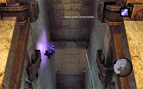 Find some other interactive ledges that you can hold onto, shimmy as far right as you can and in the spot shown in the above screenshot, start climbing in - Explore the City of the Dead - eastern part - The City of the Dead - Darksiders II - Game Guide and Walkthrough