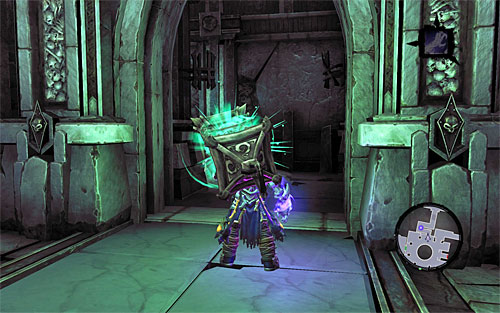After you acquire the lantern choose the narrow corridor - Explore the City of the Dead - return to the western part - The City of the Dead - Darksiders II - Game Guide and Walkthrough