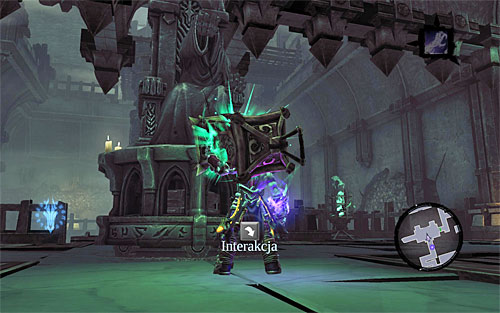 Enter the room that you have already explored, but this time, focus on mounting the lantern on the statue (the above screenshot) - Explore the City of the Dead - return to the western part - The City of the Dead - Darksiders II - Game Guide and Walkthrough