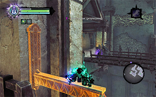 Terminate soul split and activate it again (the point of this is to summon the half of the soul that you used for interaction with the switch) - Explore the City of the Dead - return to the western part - The City of the Dead - Darksiders II - Game Guide and Walkthrough