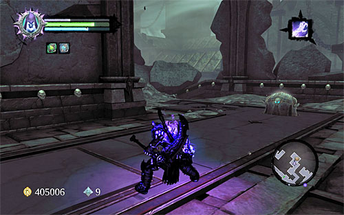 For a change now, choose the right corridor and you will reach the place where you will be attacked by two new ghouls - Explore the City of the Dead - return to the western part - The City of the Dead - Darksiders II - Game Guide and Walkthrough