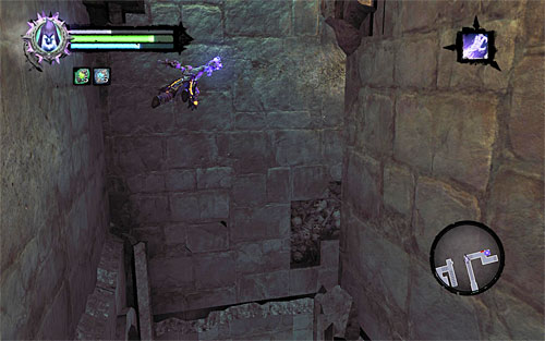 After you get to the narrow corridor, start wall running along the left wall - Explore the City of the Dead - return to the western part - The City of the Dead - Darksiders II - Game Guide and Walkthrough