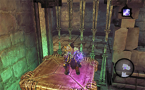 Terminate Soul Split, and climb up to the upper balcony and then to the platform that you have just been operating (in the above screenshot) - Explore the City of the Dead - upper levels (2) - The City of the Dead - Darksiders II - Game Guide and Walkthrough