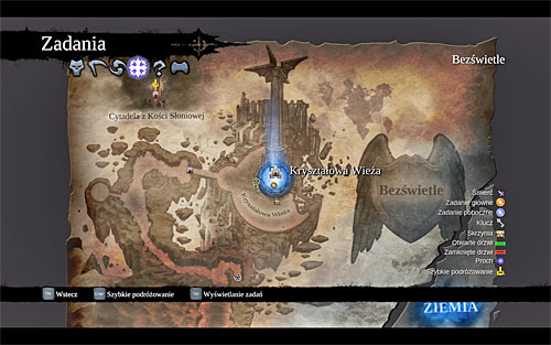 I recommend opening the world map, of course, and selecting the [Crystal Spire] again - Face the Archon - Stains of Heresy - Darksiders II - Game Guide and Walkthrough