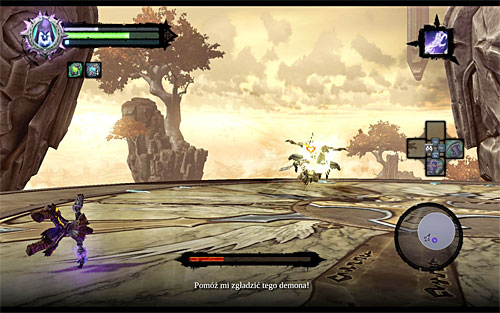The last stage of the battle is only as difficult as difficult it will be for you to dodge the Archon's charges (the above screen) - which shouldn't be too much of an issue - Boss 18 - Archon - Stains of Heresy - Darksiders II - Game Guide and Walkthrough