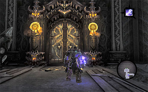 Stay in Lilith's dungeon in the [Black Stone] and look around for a Book of the Dead page ([The Book of the Dead] side quest) - Find Samael - beginning - The Lord of the Black Stone - Darksiders II - Game Guide and Walkthrough