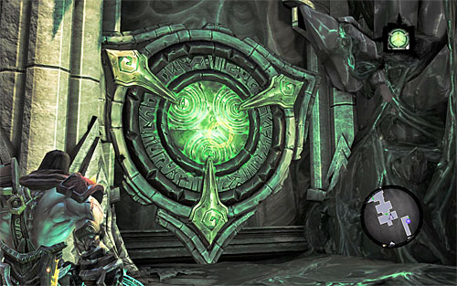 Without a sweat, eliminate Undead Scarabs in the central area of the Black Stone - Find Samael - beginning - The Lord of the Black Stone - Darksiders II - Game Guide and Walkthrough