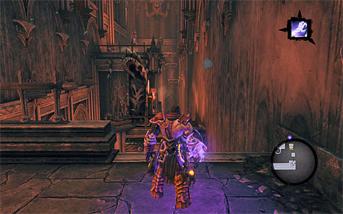 Start off by examining the nearby chest, then take the stairs to get to where the screen shows - Find Samael - eastern part of the Black Stone - The Lord of the Black Stone - Darksiders II - Game Guide and Walkthrough