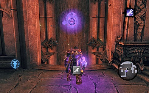 Use the edges to get to the nearby balcony - Find Samael - eastern part of the Black Stone - The Lord of the Black Stone - Darksiders II - Game Guide and Walkthrough