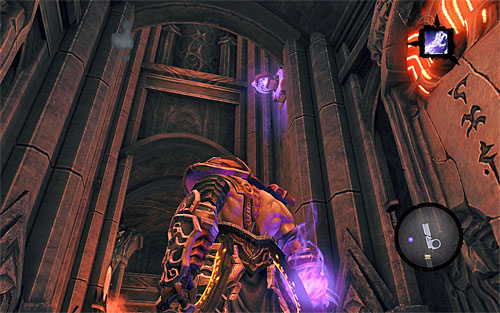 Now, move to the right as far as possible and climb a new shelf - Find Samael - eastern part of the Black Stone - The Lord of the Black Stone - Darksiders II - Game Guide and Walkthrough