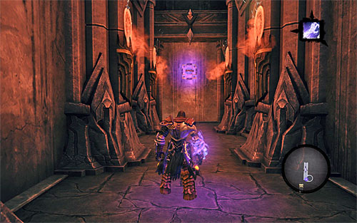 Bo back to the shaft, drop down and resume the run to find a new interactive handhold seen above - Find Samael - eastern part of the Black Stone - The Lord of the Black Stone - Darksiders II - Game Guide and Walkthrough