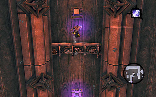Repeat all the steps connected to getting to the first large shaft, so wall-run on the walls and run through a few corridors - Find Samael - eastern part of the Black Stone - The Lord of the Black Stone - Darksiders II - Game Guide and Walkthrough