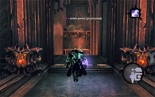 Make sure you're standing on the plate and activate Soul Splitter - Find Samael - western part of the Black Stone - The Lord of the Black Stone - Darksiders II - Game Guide and Walkthrough