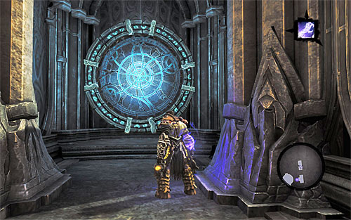 After jumping out of the portal, turn left, which is west - Find Samael - end - The Lord of the Black Stone - Darksiders II - Game Guide and Walkthrough