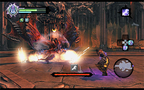 In the first stage of the battle, Samael uses only one attack, but in several variants - Boss 19 - Samael - The Lord of the Black Stone - Darksiders II - Game Guide and Walkthrough