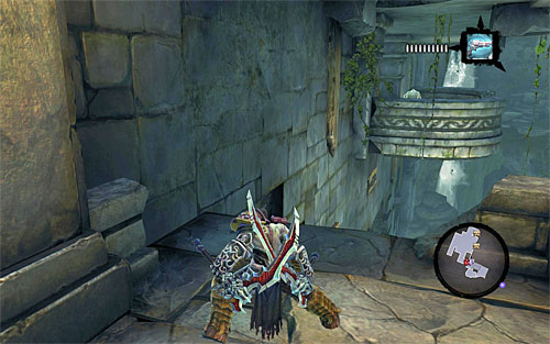 Stand in front of the closed door, turn right (the above screen) and start wall-running - Weeping Crag - Additional Locations - Darksiders II - Game Guide and Walkthrough