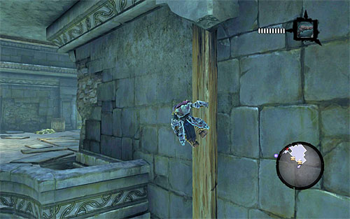 Once again, wall-run and grab onto the new vertical pole - Weeping Crag - Additional Locations - Darksiders II - Game Guide and Walkthrough