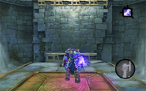 Run towards to new door and you'll find yourself in a larger hall - Weeping Crag - Additional Locations - Darksiders II - Game Guide and Walkthrough