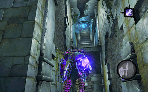 Turn left and use Voidwalker (or Phasewalker) on the portal shown on screenshot 1 - Weeping Crag - Additional Locations - Darksiders II - Game Guide and Walkthrough