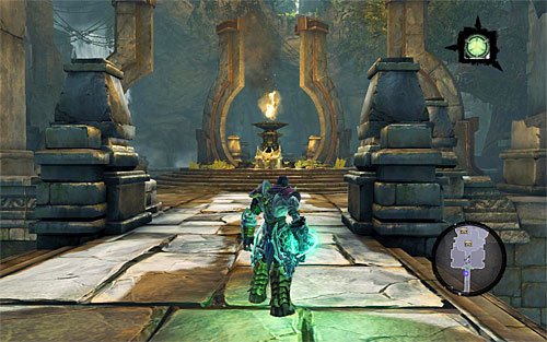 Take the north door to enter to a fairly large chamber (the above screen) - Weeping Crag - Additional Locations - Darksiders II - Game Guide and Walkthrough