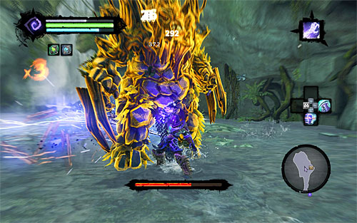 You can weaken Gorewood by any means you chose, but given that he's fairly slow I suggest using strong special attacks - Weeping Crag - Additional Locations - Darksiders II - Game Guide and Walkthrough