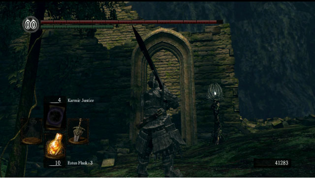 Ruins of a building - Royal Wood - Artorias Of The Abyss - walkthrough - Dark Souls - Game Guide and Walkthrough