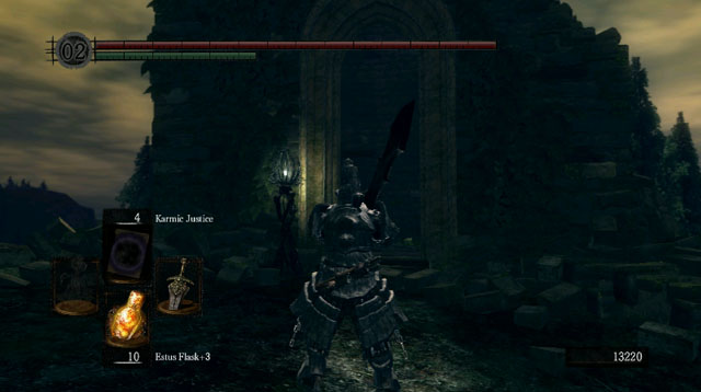 Activate the elevator in the building - Royal Wood - Artorias Of The Abyss - walkthrough - Dark Souls - Game Guide and Walkthrough