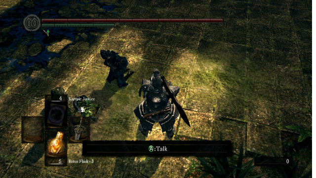 Talk to the kneeling woman - Royal Wood - Artorias Of The Abyss - walkthrough - Dark Souls - Game Guide and Walkthrough