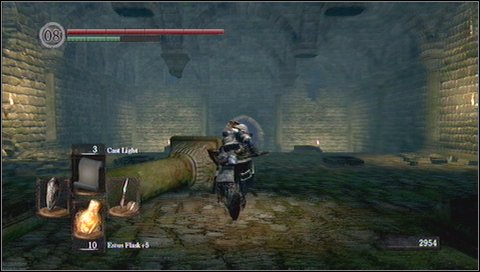 Run into a forest and look for a first enemy - these are walking bushes - Darkroot Garden - p. 1 - Walkthrough - Dark Souls - Game Guide and Walkthrough