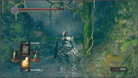 Once the path turns right, be very careful - a third end will come running to you - Darkroot Garden - p. 1 - Walkthrough - Dark Souls - Game Guide and Walkthrough